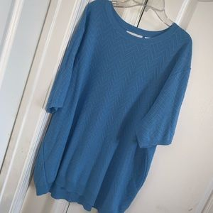 Alfred Dunner plus size short sleeve sweater